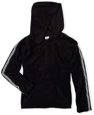 Erge Girls 7-16) Fleece Track Stripe Hoodie