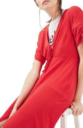 Women's Topshop Spot Tea Dress $95 thestylecure.com