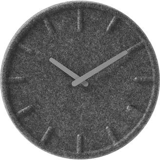 Scandinavian Leff Felt Wall Clock, 35cm, Leff Grey Felt