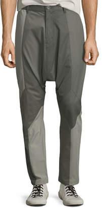 Mostly Heard Rarely Seen Men's Multicolor Mixed-Media Drop-Crotch Pants