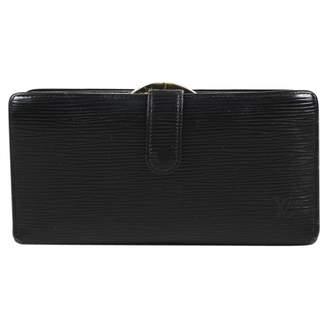 Louis Vuitton Vintage Black Leather Wallets