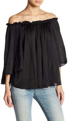 Romeo & Juliet Couture Off-the-Shoulder Pleated Blouse