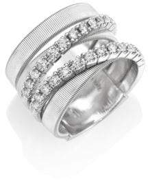 Marco Bicego Masai Diamond& 18K White Gold Five-Strand Ring