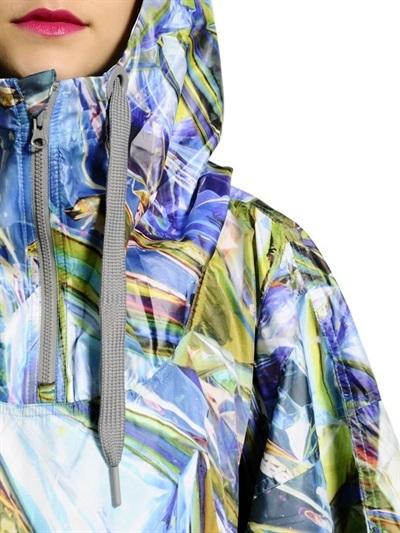 adidas by Stella McCartney Hooded Printed Nylon Poncho