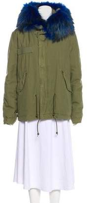 Mr & Mrs Italy Fur-Trimmed Parka Coat
