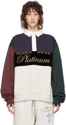 Alexander Wang Multicolor Platinum Rugby Jersey Sweatshirt