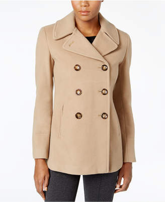 Calvin Klein Wool-Cashmere Double-Breasted Peacoat