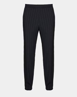 Theory Wool Blend Dashed Pinstripe Pant