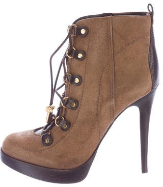 Tory BurchTory Burch Suede Lace-Up Ankle Boots