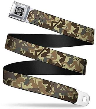 Buckle-Down Unisex-Adults Seatbelt Belt Mud Flap Girl XL camo Browns
