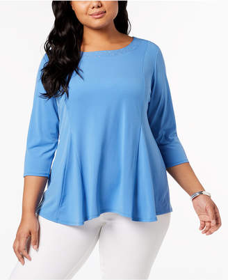 NY Collection Plus Size Studded Swing Tunic