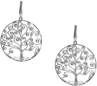 Italian Silver Italian Gold Sterling Tree of Life Dangle Ear rings