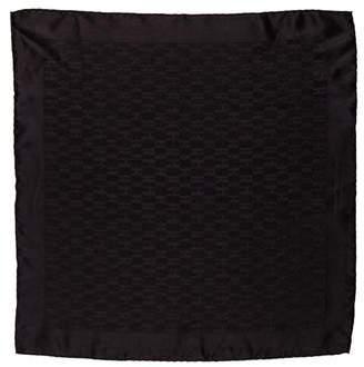 Hermes Faconnee Silk Pocket Square