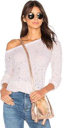 Michael Stars Textured Sweatshirt in Blush. $98 thestylecure.com