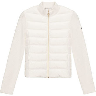 Moncler Puffer-Front Tricot Jacket, White, Size 8-14 $217 thestylecure.com