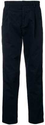 Closed side stripe regular-fit trousers