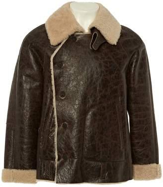Emporio Armani Brown Leather Jackets