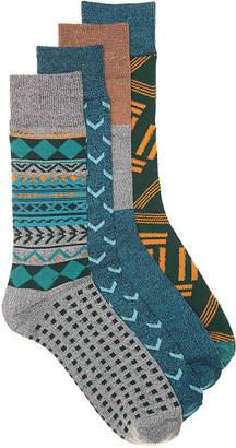 Lucky Brand Geo Crew Socks - 4 Pack - Men's