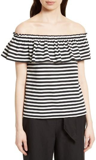 Women's Kate Spade New York Stripe Off The Shoulder Top