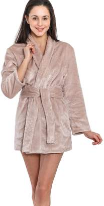 Jones New York Women's Short Kimono, Royal Plush Robe, Beehive Pattern (, L/XL)