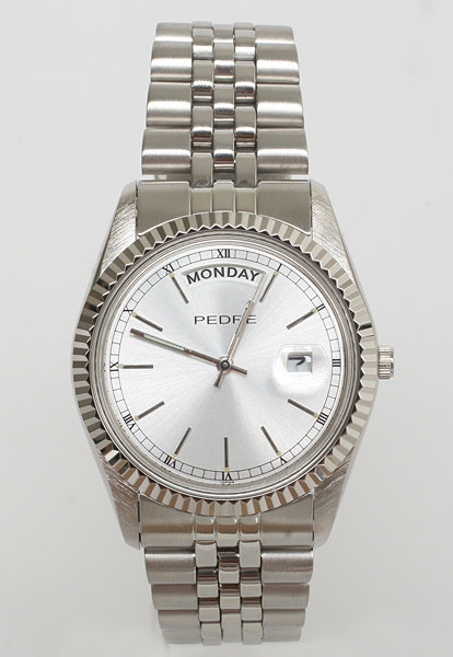 Pedre Silver Stainless Steel Watch