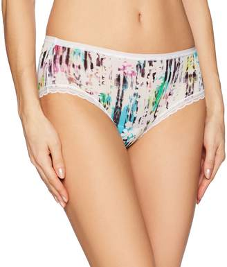 OnGossamer Women's Next to Nothing Printed Modern Brief Panty