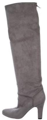 Stella McCartney Vegan Suede Round-Toe Boots
