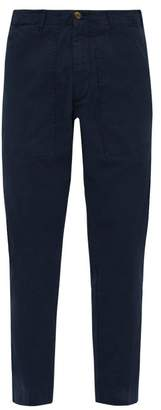J.w.brine J.W. Brine J.w. Brine - Daryl 76 Cotton Blend Fatigue Trousers - Mens - Navy