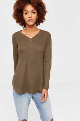 Ardene Elbow Patch V-Neck Sweater