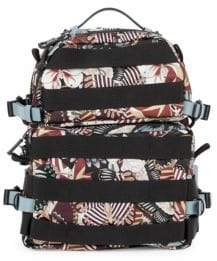 Valentino Butterfly-Print Strappy Backpack