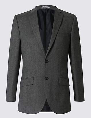 M&S Collection Big & Tall Grey Tailored Fit Jacket