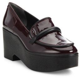 Robert Clergerie Xocole Patent Leather Platform Loafers $550 thestylecure.com
