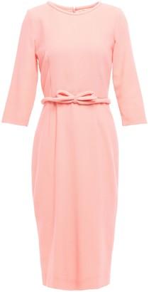Goat Belted Wool-crepe Midi Dress