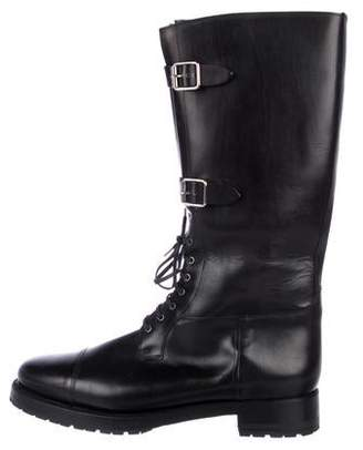 Ralph Lauren Cap-Toe Leather Boots