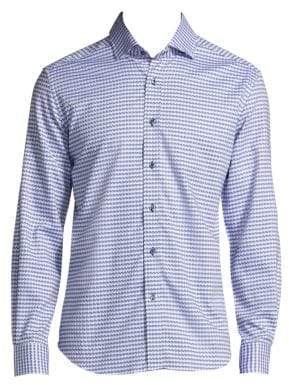 Robert Graham Textured Cotton Casual Button-Down Shirt