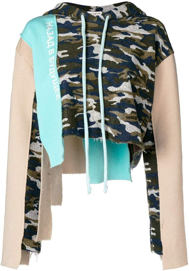camouflage patchwork hoodie