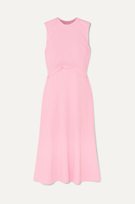 Victoria Beckham Draped Georgette Midi Dress - Baby pink