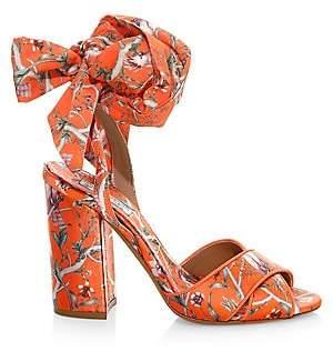 Tabitha Simmons Women's x Johanna Ortiz Connie Floral Wrap Slingback Platform Sandals