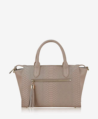 GiGi New York Grace Satchel Embossed Python