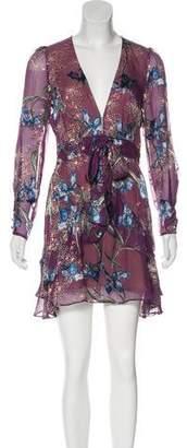 For Love & Lemons Silk Blend MIni Dress w/ Tags