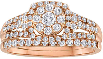 JCPenney MODERN BRIDE 5/8 CT. T.W. Diamond 10K Rose Gold Bridal Ring Set