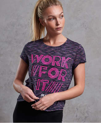 Superdry SD Sport Fitspiration Ombre T-Shirt