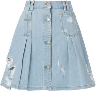 Public School Penny Denim Mini Skirt