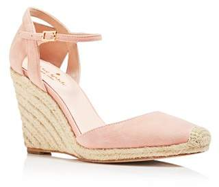 Kate Spade Women's Giovanna Suede Espadrille Wedge Pumps