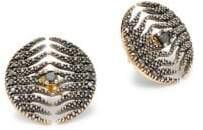 Mizuki Feather 14K Yellow Gold & Diamond Earrings