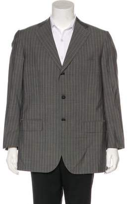 Isaia Striped Wool & Silk Blazer