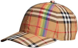 3ef9af8b3a2 Burberry Rainbow Vintage Check Baseball Cap