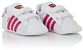 adidas Kids' Superstar Crib Sneakers-White