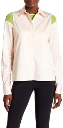 Opening Ceremony Convertible Mesh Button Down Blouse