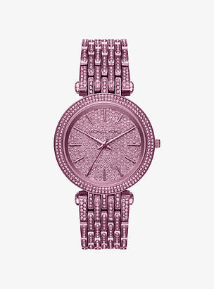 Michael Kors Darci Pave Plum-Tone Watch